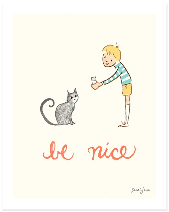 Be nice cat